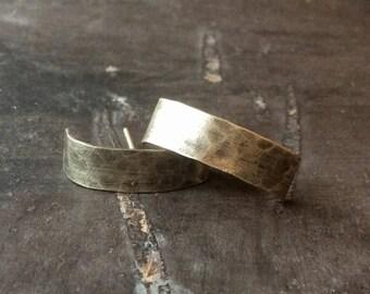 Strap Studs//Hammered Sterling Silver