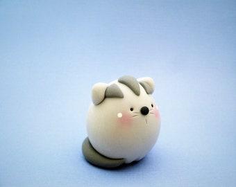 Tabby Cat - Polymer Clay - Spring - Summer - Figurine