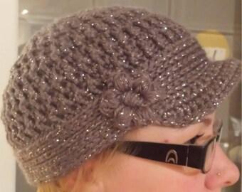 Glori Jam Crochet Womens Brimmed Hat