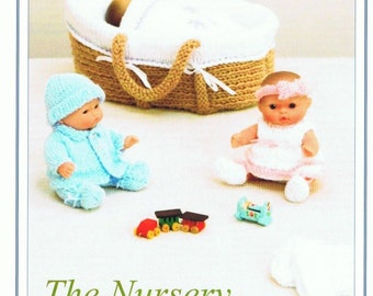 The Nursery Knitting  Pattern , Knits and Pieces The Nursery Dolls Clothes, Moses Basket Knitting Pattern KP12