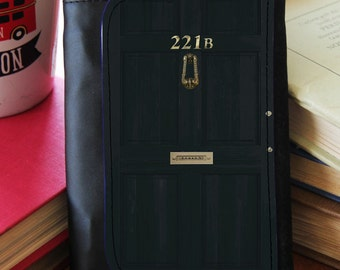 """SHERLOCK  """"221b Full Door"""" Faux Leather Wallet"""