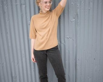 Vintage Sweater Tan Shirt