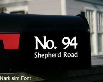 2 Sets of Mailbox Address Decals