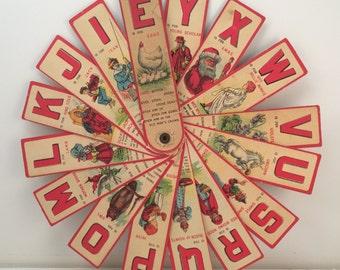 1907 Sliced Animal Spelling Fan Book