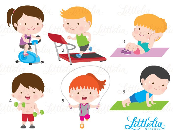 Gym Clipart Exercise Clipart Health Clipart 16078