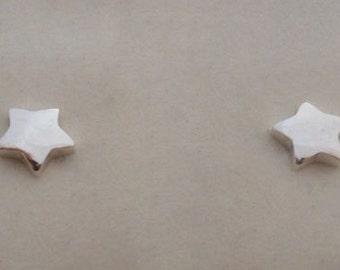 925 Sterling Silver Small Star Stud Earrings, 6 mm Diameter