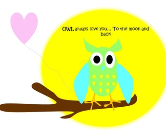 OWL always love you Clip Art