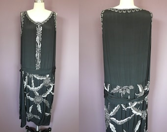 Beaded 1920's Flapper Gown, Paris