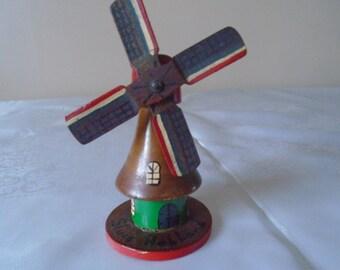 vintage hand painted windmill