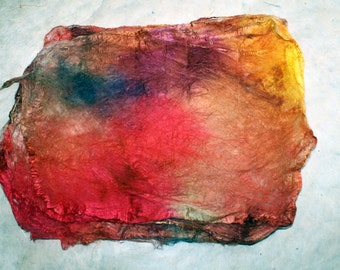 Hand-painted silk-hankie ' soleil '