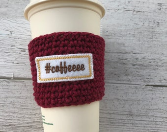 Coffee Cup Cozy, Crochet Coffee Cozy, Coffee Sleeve, Drink Sleeve, Teacher Gift, Gift under 10, Party Favor, gift for her