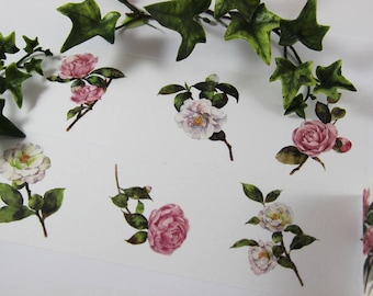 Design Washi tape Flowers Roses nature Wide