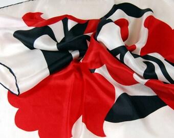 Silk Scarf - Baar & Beards - Red and Black