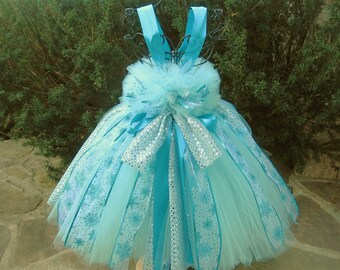 ICE QUEEN AQUA - Tutu Dress - Pageant Outfit - Birthday Dress - Princess Gown - Aqua Blue Tutu Dress - Flower Girl Gown - Blue Tutu Dress -