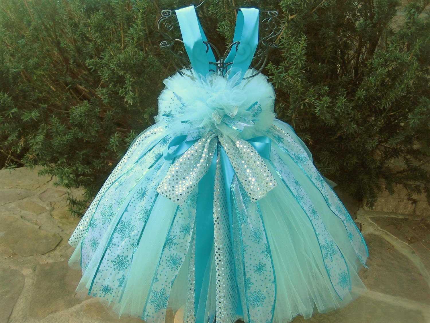 ICE QUEEN AQUA Tutu Dress Pageant Outfit Birthday Dress