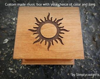 music box, Christmas music box, custom made music box, you are my sunshine, personalized music box, music box shop, valentine's day gift