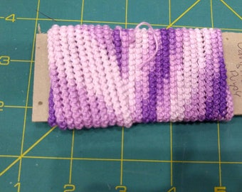 pre made  size 10  romanian point lace cord purple varigate