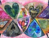 Heart Art, Mixed Media Co...