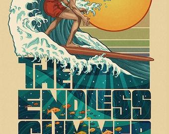 The Endless Summer - Underwater Scene - Wildwood, NJ (Art Prints available in multiple sizes)