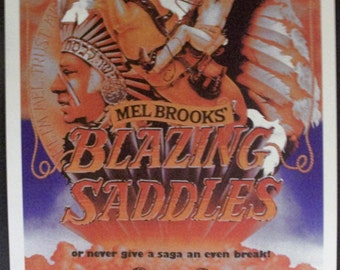 Blazing Saddles Reproduction 12'x18' Vintage Movie Poster // Richard Pryor // Mel Brooks // Young Frankenstein // Men in Tights // Comedy
