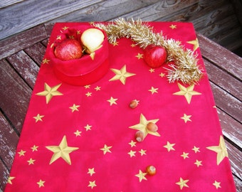 Red table runner, Handmade Linen Table Cloth, Wedding Decor, 100% Cotton, Christmas table runner, Red table cloth
