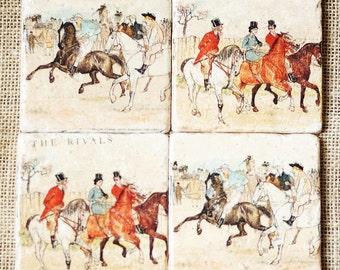 Equestrian Decor- Coasters, Horse Decor, Horse Gift, Equestrian Gift, Horse Stone, Horse, Horse Art, Horse Tile, Horse Print, Tile