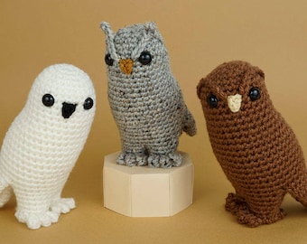 PDF Owl Collection - three amigurumi CROCHET PATTERNS