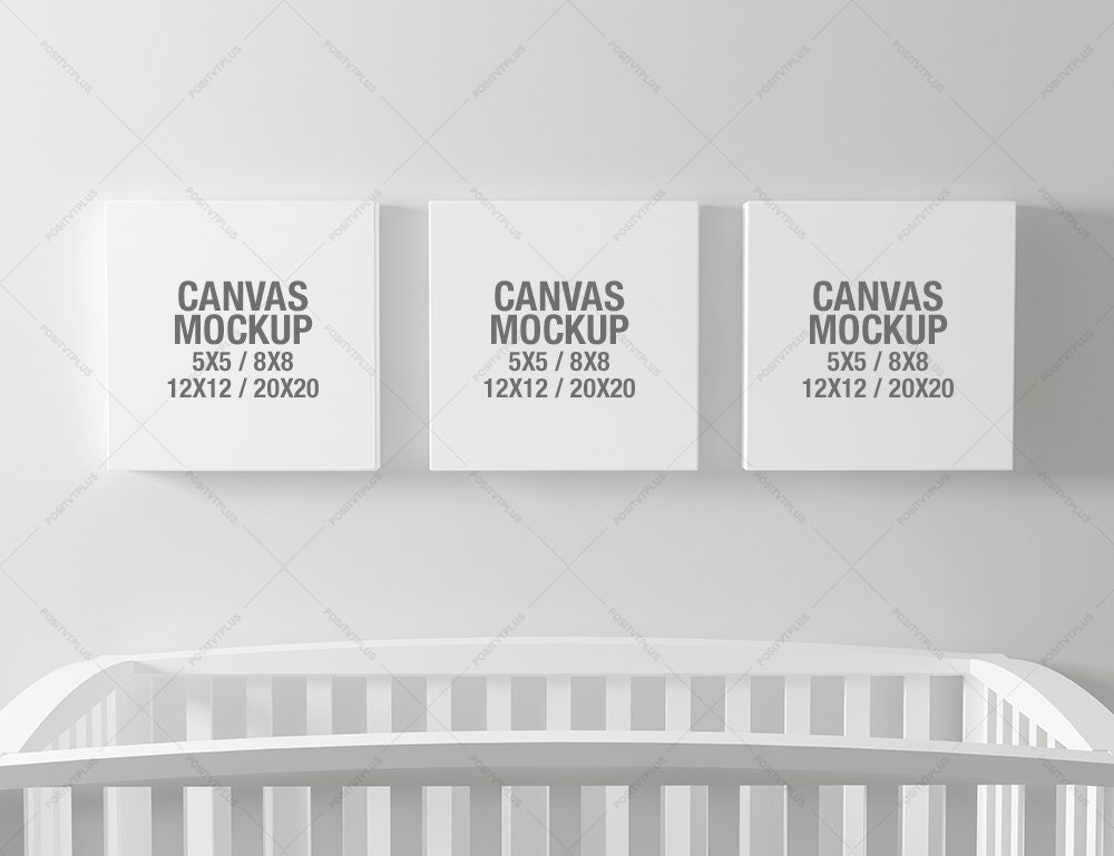 Canvas Photography Mockup / 5x5 photo canvas / 8x8 canvas