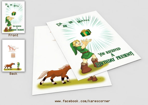 Legend Of Zelda Birthday Card