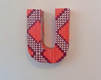 CUSTOM upcycled cardboard lowercase letter *SAMPLE SALE*!