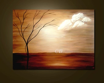 Tranquil- Abstract Landscape  Art Print. Free Shipping inside US.