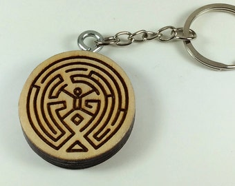 Keychain Locket TV show WESTWORLD labyrinth MAZE keyring
