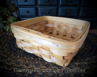 Unfinished Square Basket Tray for Crafting ~ Bowl Fillers ~ Storage of Supplies