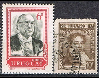 55 Postage Stamps from All Over the World - Presidents - Heads of Government - Prime Ministers