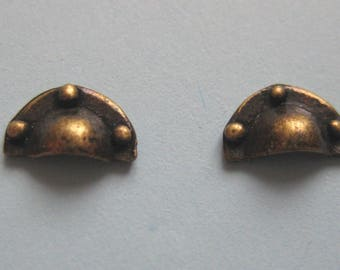 1/12th Scale Dolls' House Brass Drawer Pulls - Pack of 2