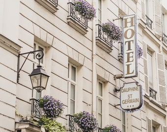 "Paris, France Travel Photography, ""Hotel Dauphine"", Gallery Wall Art Prints, Home Decor"