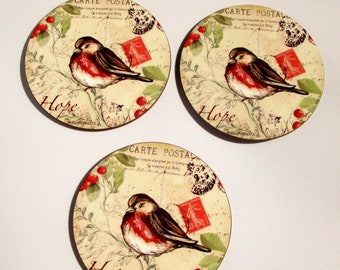 Coaster shabby vintage 3 pieces new