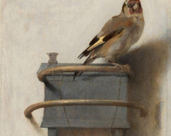 The Goldfinch by Carel Fabritius - Poster A3 or A4 Matt, Glossy or Art Canvas Paper