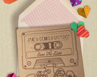 Retro Mixed Tape Wedding Invitations