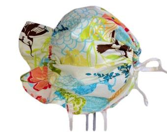 Baby Bonnet, Girl Sun Bonnet, Baby Sun Hat, Floral Bonnet, Cotton Summer Hat, Toddler Hat, Beach Hat, Baby Girl Bonnet, Adjustable, Infant