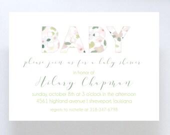 Floral Baby Shower Invitation//Gender Neutral Baby Shower