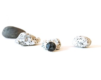 Snowflake Obsidian Gemstone Ring