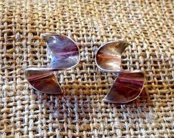 Vintage Silver Studs Earrings,