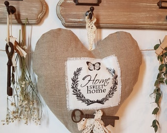 Heart linen and lace
