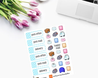 Kawaii Happy Mail Planner Stickers CAM00123