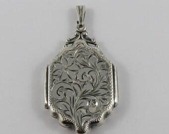 Sterling Silver Birks  Locket With A Floral Motif