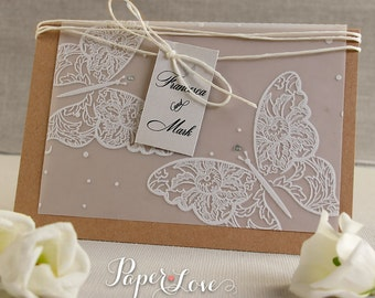 Handmade Butterfly High Quality Parchment Day Invitations