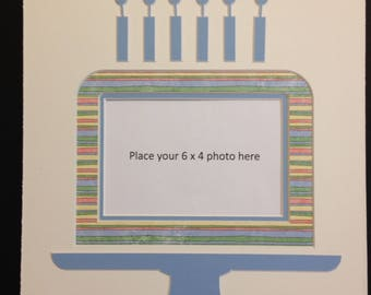 Birthday Cake Photo Mat with Candles