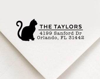 Cat Return Address Stamp, Custom Stamp, Self Inking Stamp, Wedding Address Stamp, Custom Address Stamp, Housewarming Gift, Realtor Gift