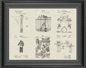 Scuba Diving Patent Collection Scuba Diver Gift PDIVE2024